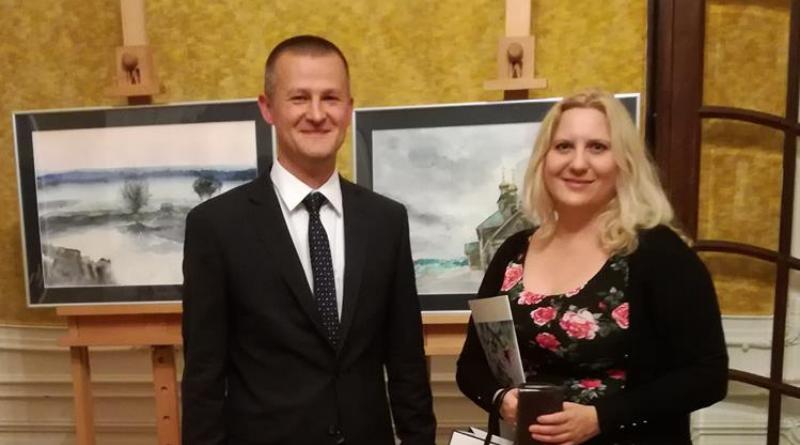Wernisaż podlaskiej artystki Jolanty Grabowskiej w Domu Polski Wschodniej